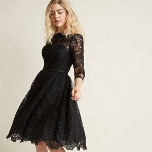 d6e9fa05fe NWT Modcloth Black Lace Chi Chi London Dress
